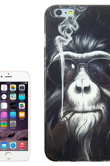 Smoking Gorilla Pattern TPU Case for iPhone 6 Plus & 6S Plus