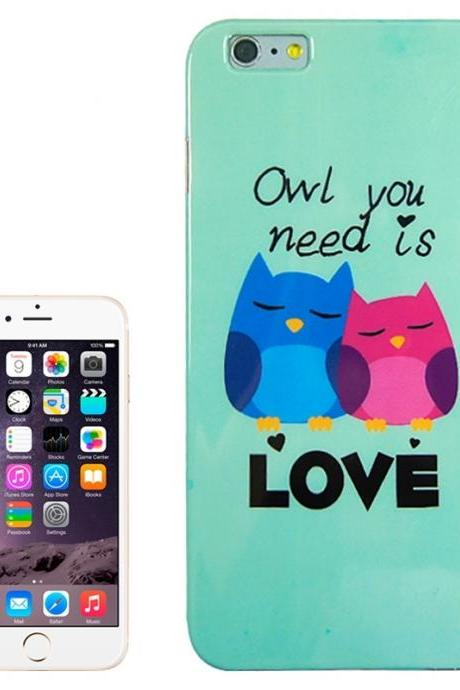 Loving Owls Pattern TPU Case for iPhone 6 Plus & 6S Plus