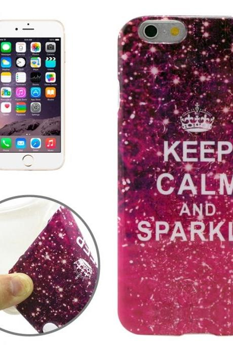 Sparkle Pattern Transparent Frame TPU Case for iPhone 6 Plus & 6S Plus